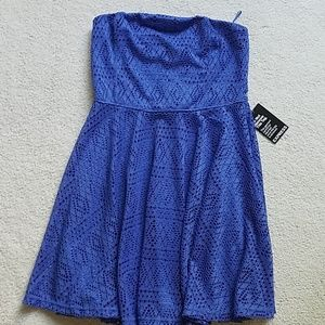 Blue dress with removable straps